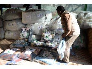 Kilis'te Filistinli ailelere battaniye yardımı