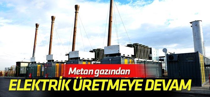 Metan gazından 1 yılda 35 milyon kilowatt elektrik