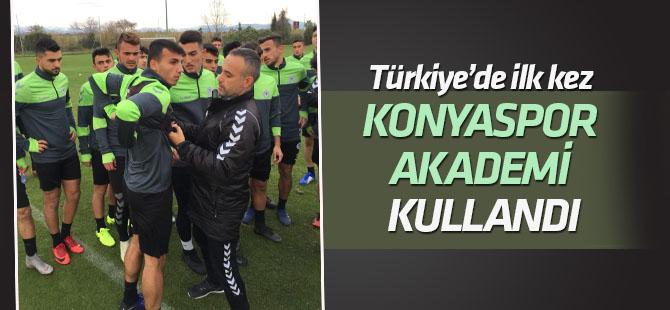 Türkiye'de ilk kez  Konyaspor Futbol Gelişim Akademisi kullandı