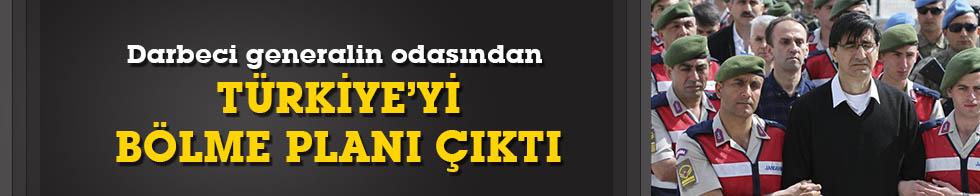 """Darbeci generalin odasından """"Türkiye'yi bölme planı"""" çıktı"""