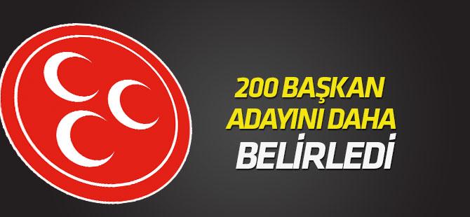MHP, 200 belediye başkan adayını daha belirledi