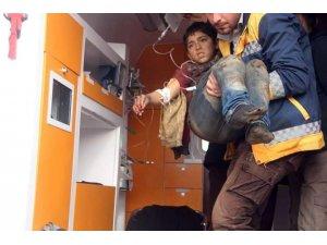 Afrin'de patlayıcı infilak etti, 1 çocuk yaralandı