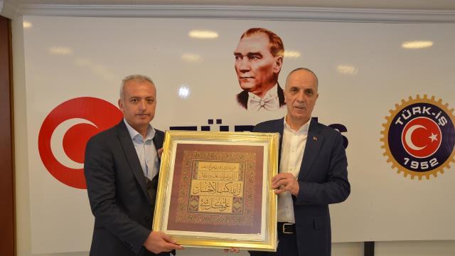 Demiryol-İş Konya'dan  Türk-iş Başkanı Ergun Atalay ziyaret