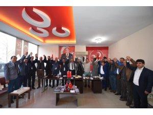 Cumhur İttifakı adayı Çerçi MHP ilçe yönetimiyle buluştu