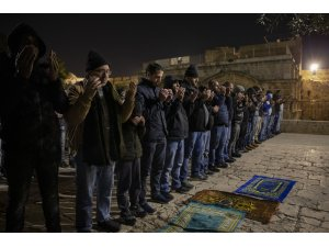 Filistinlilerden Mescid-i Aksa nöbeti