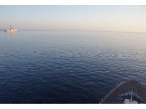 Deniz Kuvvetlerinden sondaj platformuna refakat görevi