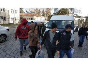 Samsun'da DEAŞ'tan 8 yabancı uyruklu şahıs adliyede