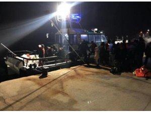 Edirne'de lastik botta 28 kaçak göçmen yakalandı