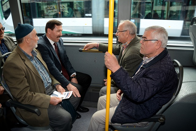Kılca, halk otobüsünde