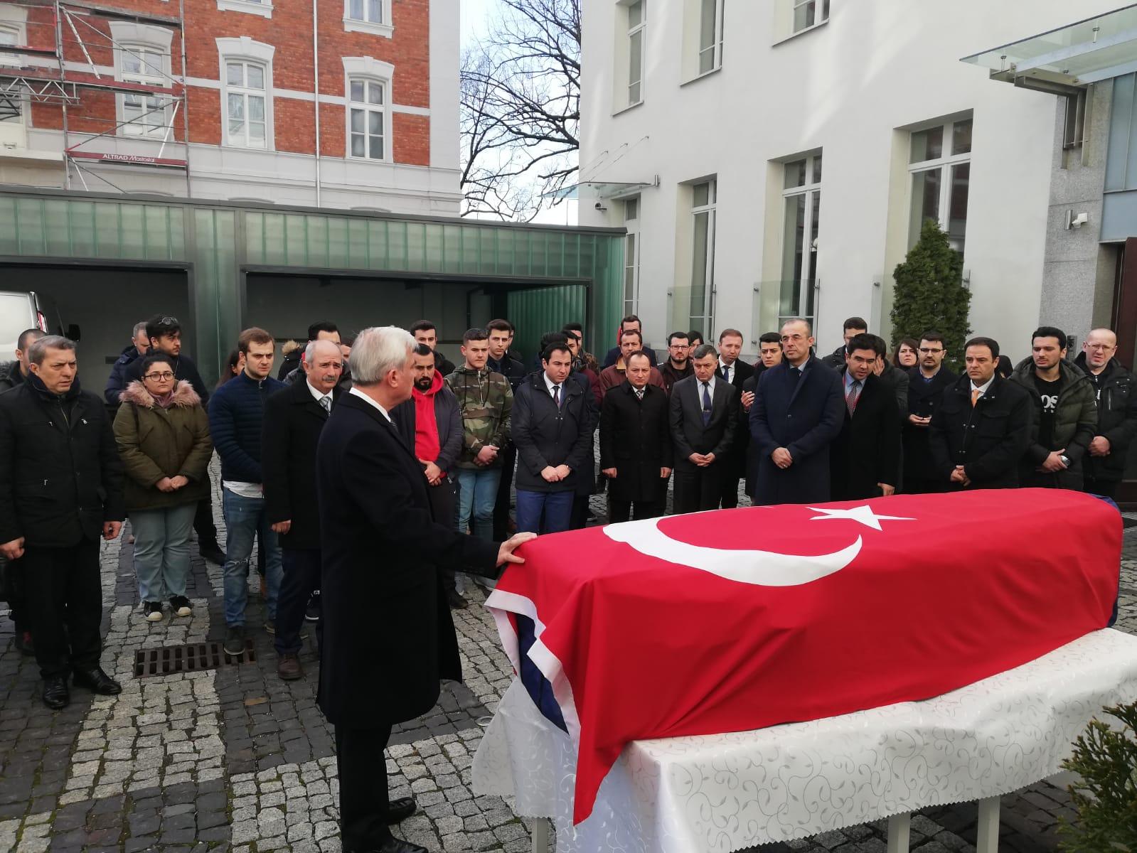 Polonya'da, öldürülen Türk öğrenci Furkan Kocaman için tören düzenlendi