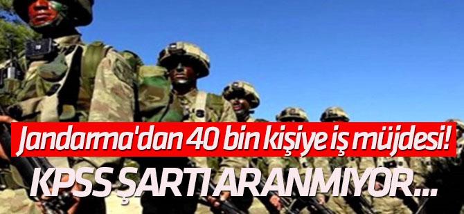 KPSS şartı aranmıyor... Jandarma'dan 40 bin kişiye iş müjdesi!