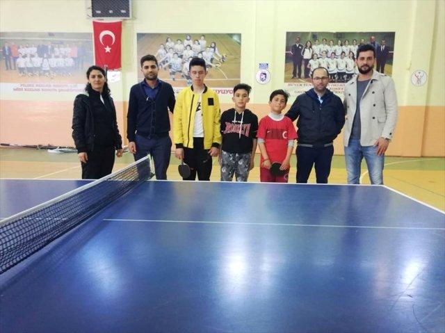 Hüyük'te masa tenisi turnuvası heyecanı sona erdi