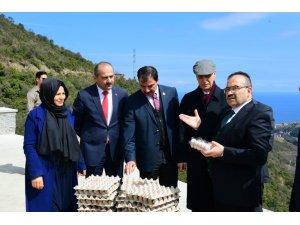 DOKAP Bölgesi Organik Yumurta Tavukçuluğu Projesi Trabzon'da hayat buldu