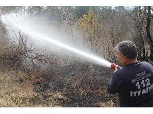 Gediz'deki orman yangını büyümeden söndürüldü