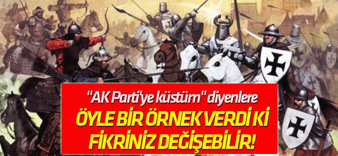 """""""AK Parti'ye küstüm"""" diyenlere Aydın Ünal öyle bir örnek verdi ki, fikriniz değişebilir!"""