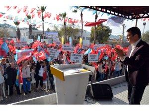 Mehmet Tosun'un mitingi yoğun ilgi gördü