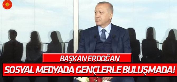 Erdoğan sosyal medyada gençlerle buluşmada!
