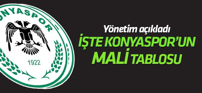 """Konyaspor'da """"mali tablo"""" açıklandı"""