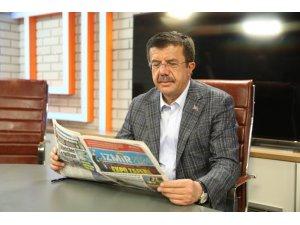Zeybekci, projelerin bitmiş halini 2024'teki gazetede anlattı