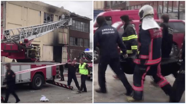 Ankara İskitler'de yangın
