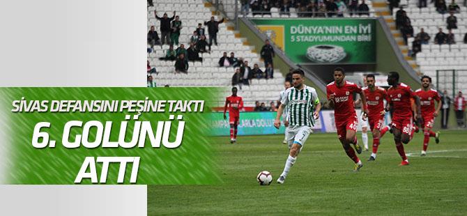 Ömer Ali Şahiner 6. golünü kaydetti