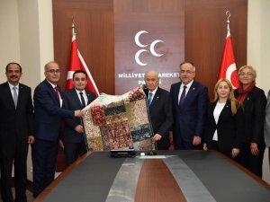 MHP Konya'dan Bahçeli'ye ziyaret