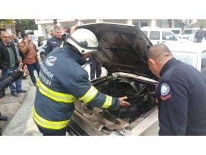 Eskişehir'de seyir halindeki otomobil alev aldı
