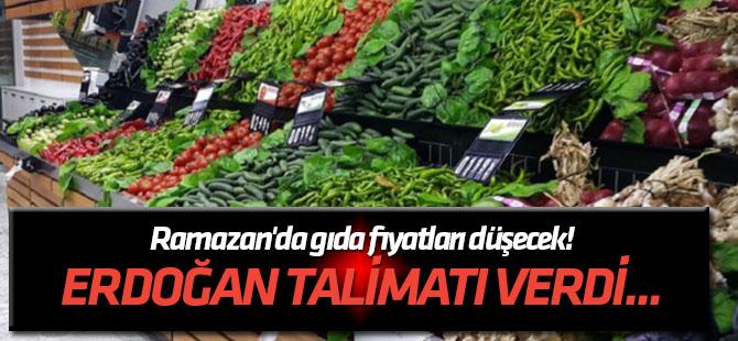 Erdoğan talimatı verdi... Ramazan'da gıda fiyatları düşecek!