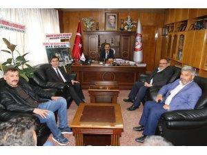Başkan Hadimioğlu'na tebrik ziyareti