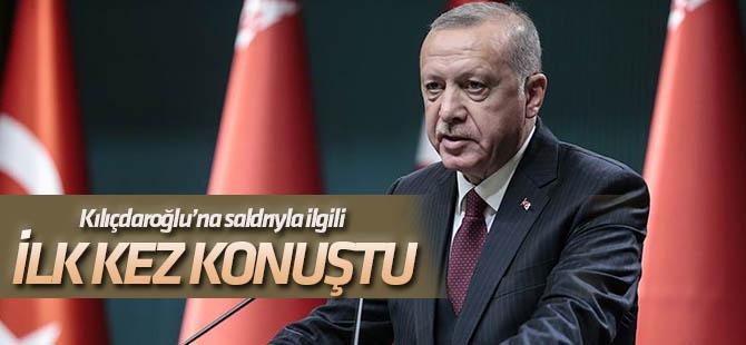 Cumhurbaşkanı Erdoğan'dan, Kılıçdaroğlu'na saldırıyla ilgili açıklama