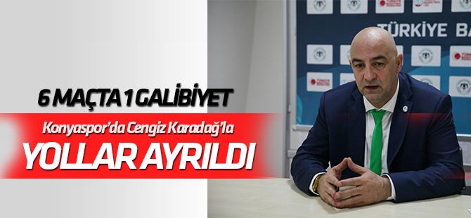 Konyaspor Basketbol'da Cengiz Karadağ'la yollar ayrıldı