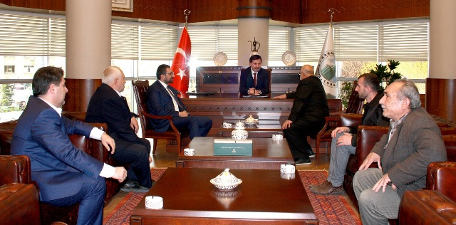 Vali Toprak, Akış ve Türkmenoğlu'ndan Başkan Kılca'ya ziyaret