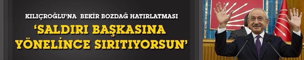 Kılıçdaroğlu'na Bekir Bozdağ hatırlatması: 'Saldırı başkalarına yönelince sırıtıyorsun!'