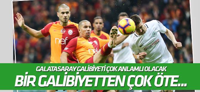 Konyaspor için Galatasaray galibiyeti çok anlamlı olacak