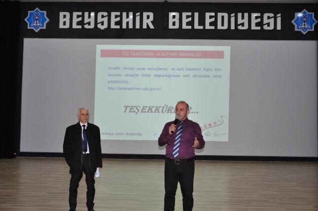 Beyşehir'de amatör denizci belgesi sınavı