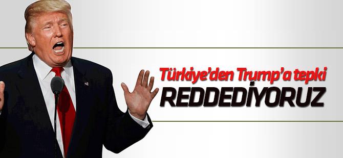 Türkiye'den Trump'ın 1915 olaylarına ilişkin açıklamasına tepki