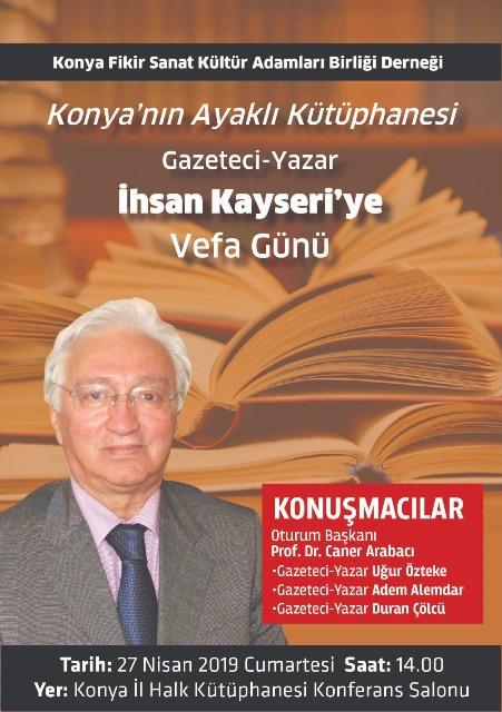 Kayseri'ye vefa programı düzenleniyor