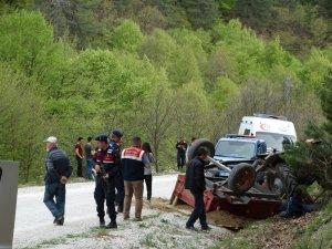 Domaniç'te trafik kazası, 2 ölü