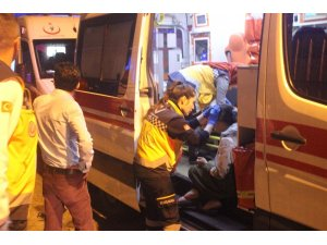 Fatih Yedikule'de binanın tabanı çöktü: 1'i çocuk 5 kişi yaralandı