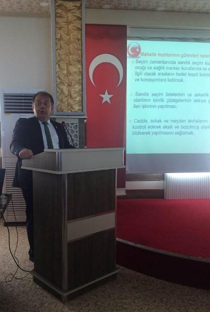 Beyşehir'de muhtarlara hizmet içi eğitim semineri
