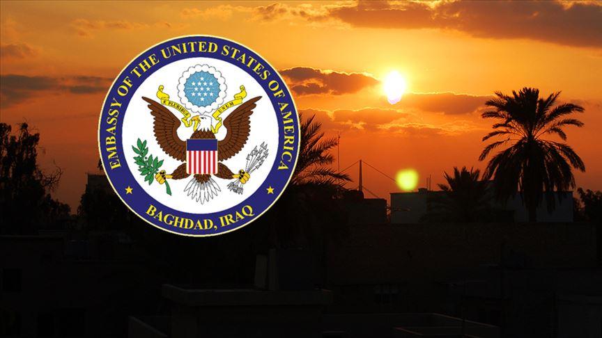 """ABD'nin Bağdat Büyükelçiliğinden vatandaşlarına """"Irak'ı terk edin"""" açıklaması"""