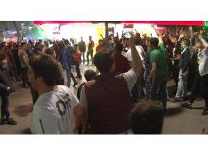 Konya'da Galatasaray'ın şampiyonluk kutlamasında gerginlik