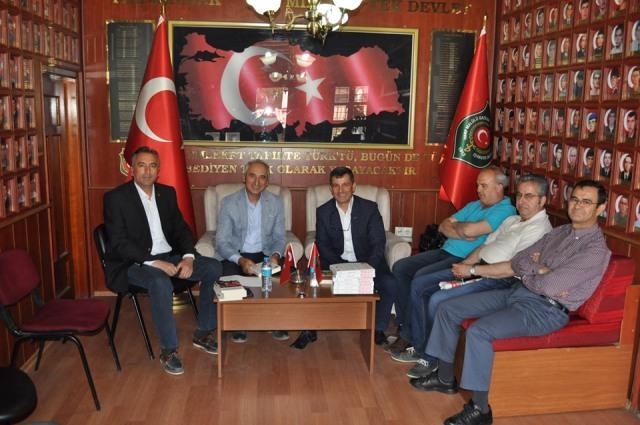 Emekli albaydan gazilere ziyaret