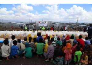 TİKA'dan kamplara sığınan Etiyopyalı ailelere ramazan yardımı