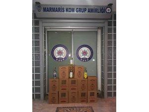 Marmaris'te 6 bin 980 şişe kaçak ve sahte alkol yakalandı