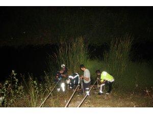 Sulama kanalında kurtarma operasyonu