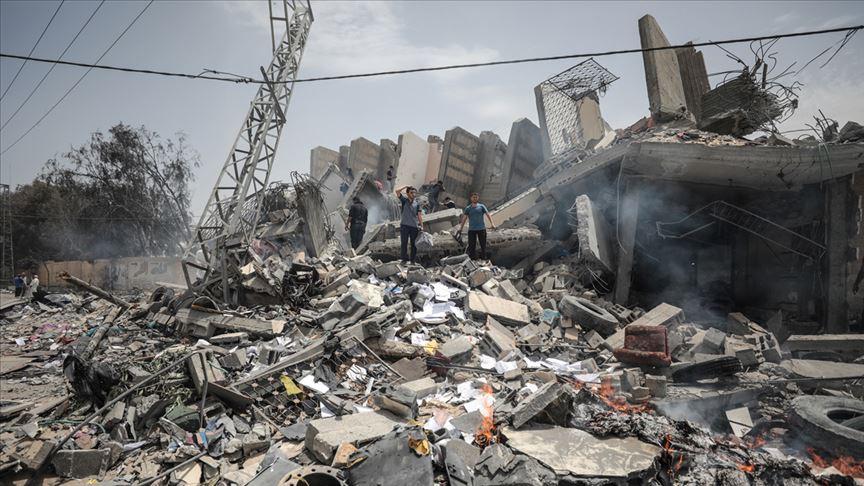 İşgalci terörist İsrail Gazze'de sivil alanları kasten hedef aldı