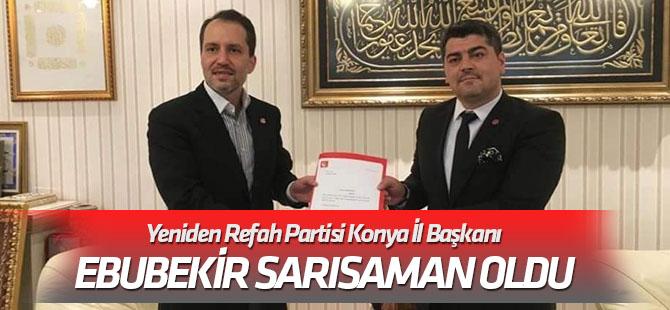 Ebubekir Sarısaman YRP İl Başkanı oldu