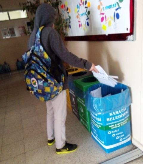 Yaşar Doğu Ortaokulundan, Sıfır Atık Projesi
