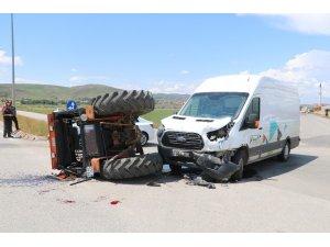 Traktörün karıştığı kazada 1 kişi yaralandı